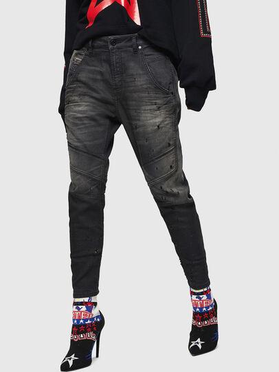 Diesel - Fayza JoggJeans 069GN, Negro/Gris oscuro - Vaqueros - Image 1