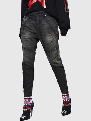 Fayza JoggJeans 069GN, Negro/Gris oscuro - Vaqueros