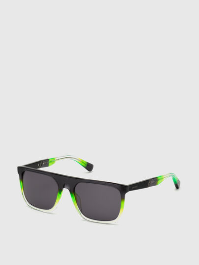 Diesel - DL0299, Negro/Verde - Gafas de sol - Image 2