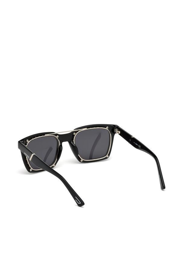 Diesel - DL0250, Negro Brillante - Gafas de sol - Image 3