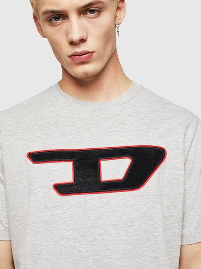 Diesel - T-JUST-DIVISION-D, Gris - Camisetas - Image 3
