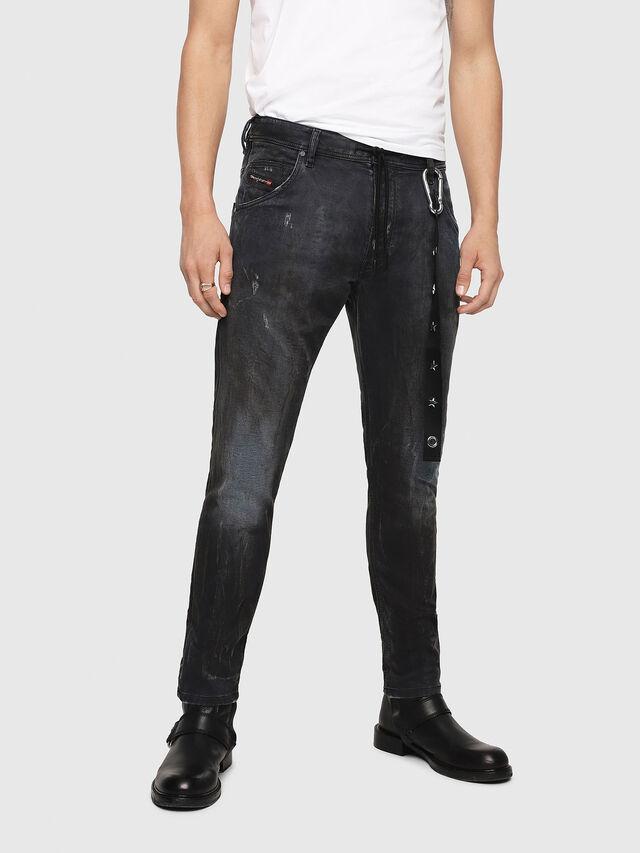 Diesel - Krooley JoggJeans 069IA, Black Jeans - Vaqueros - Image 1