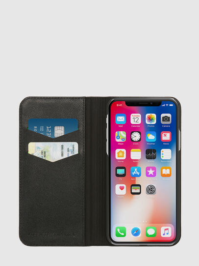 Diesel - SLIM LEATHER FOLIO IPHONE X, Negro - Fundas tipo libro - Image 6
