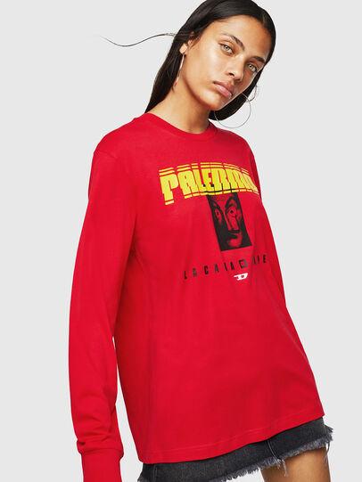 Diesel - LCP-T-JUST-LS-PALERM, Rojo - Camisetas - Image 2