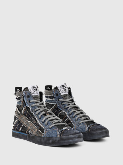 Diesel - D-VELOWS MID LACE, Negro/Azul - Sneakers - Image 2