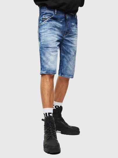 Diesel - D-KROOSHORT-T, Azul medio - Shorts - Image 1