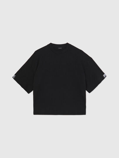 Diesel - UFTEE-SHORTEE, Negro - Camisetas - Image 1