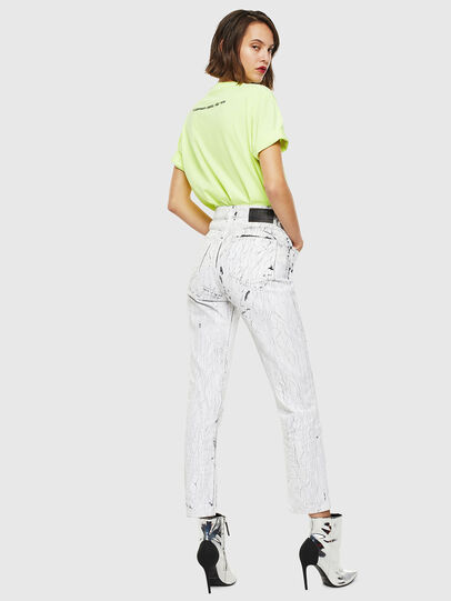 Diesel - T-JUST-SLITS-FLUO, Amarillo Fluo - Camisetas - Image 6