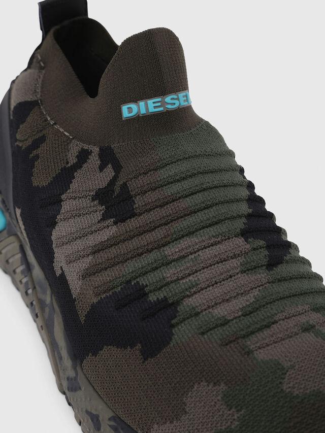 Diesel - S-KB ATHL SOCK, Verde Camuflaje - Sneakers - Image 4