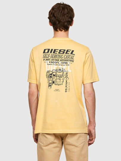 Diesel - T-JUBINDY-B1, Amarillo - Camisetas - Image 2