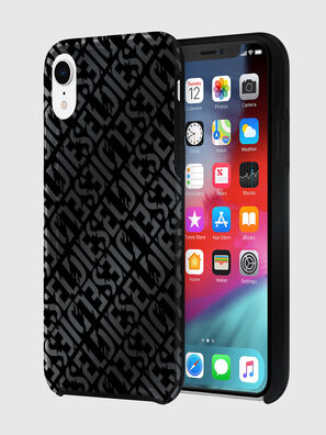 DIESEL PRINTED CO-MOLD CASE FOR IPHONE XR, Negro - Fundas