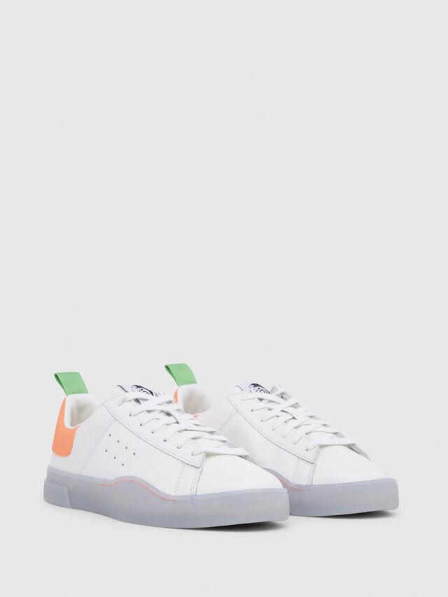 Diesel - S-CLEVER LOW, Blanco/Naranja - Sneakers - Image 2