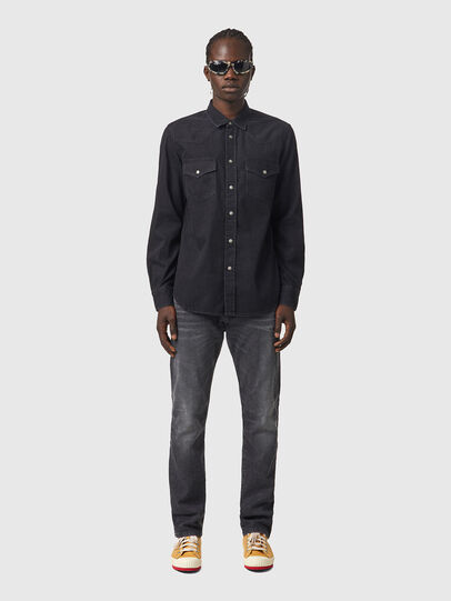 Diesel - D-EAST-P1, Negro - Camisas de Denim - Image 4