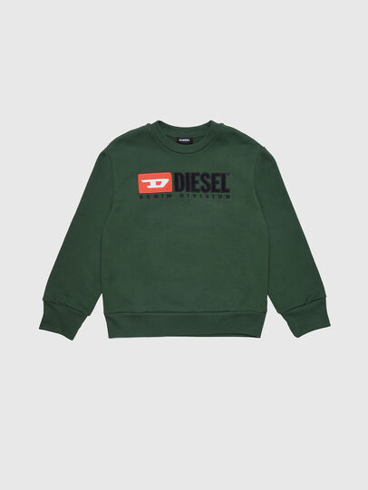 Diesel - SCREWDIVISION OVER, Verde Botella - Sudaderas - Image 1