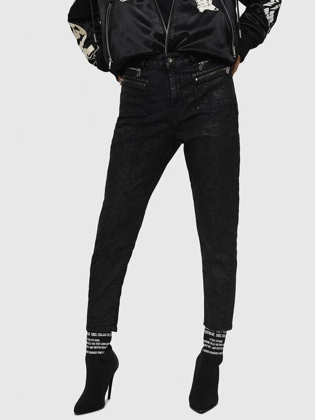 D-Eifault JoggJeans 084AG, Negro/Gris oscuro - Vaqueros