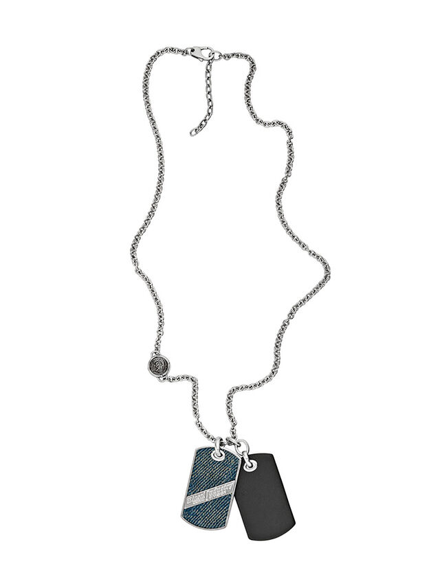 Diesel - NECKLACE DX1031, Blue Jeans - Collares - Image 1