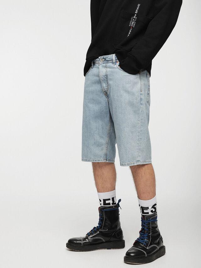 Diesel - KEESHORT, Azul Claro - Shorts - Image 1
