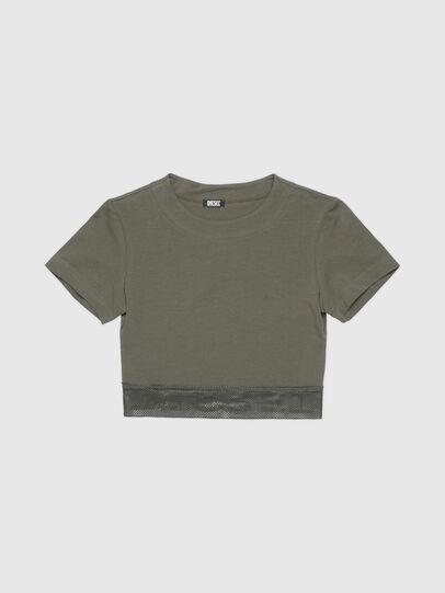 Diesel - UFTEE-GIORGMESH-SV, Verde Militar - Camisetas - Image 1