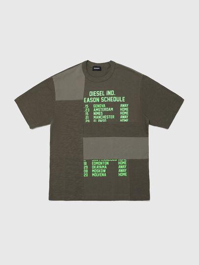 Diesel - TATCHWORK OVER, Verde Militar - Camisetas y Tops - Image 1