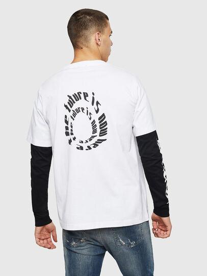 Diesel - T-SHOOT-B2, Blanco/Negro - Camisetas - Image 2