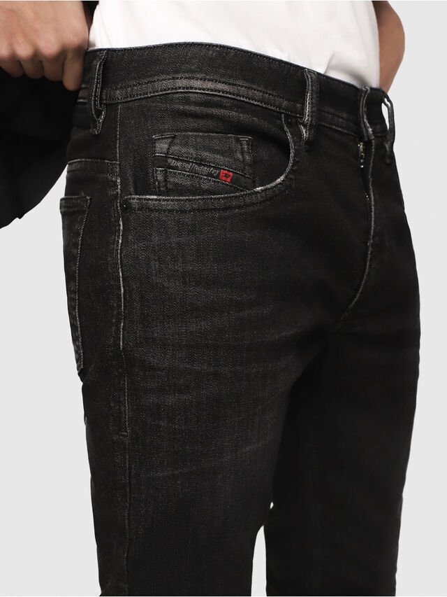 Diesel - Thommer JoggJeans 0077U, Negro/Gris oscuro - Vaqueros - Image 3