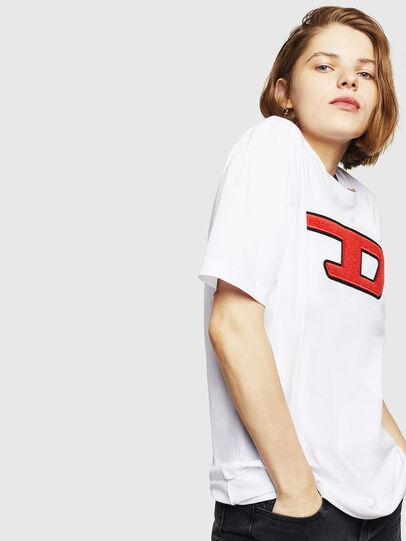 Diesel - T-JUST-DIVISION-D-FL, Blanco - Camisetas - Image 5