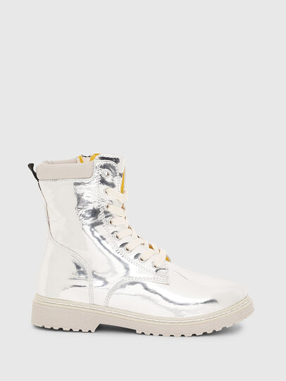 Diesel - HB LACE UP 04 CH, Plata - Calzado - Image 1