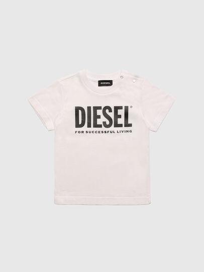 Diesel - TJUSTLOGOB, Blanco - Camisetas y Tops - Image 1