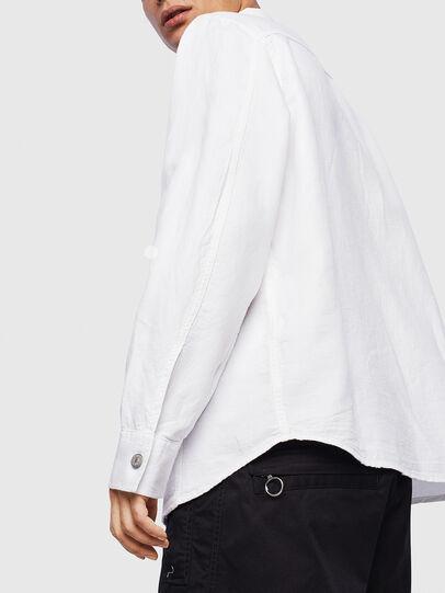 Diesel - D-FLOX, Blanco - Camisas de Denim - Image 5
