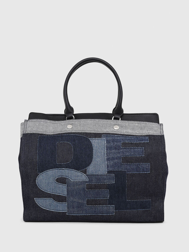 Diesel - F-DESTAR SHOPPER M, Blue Jeans - Bolsos Shopper y Al Hombro - Image 1