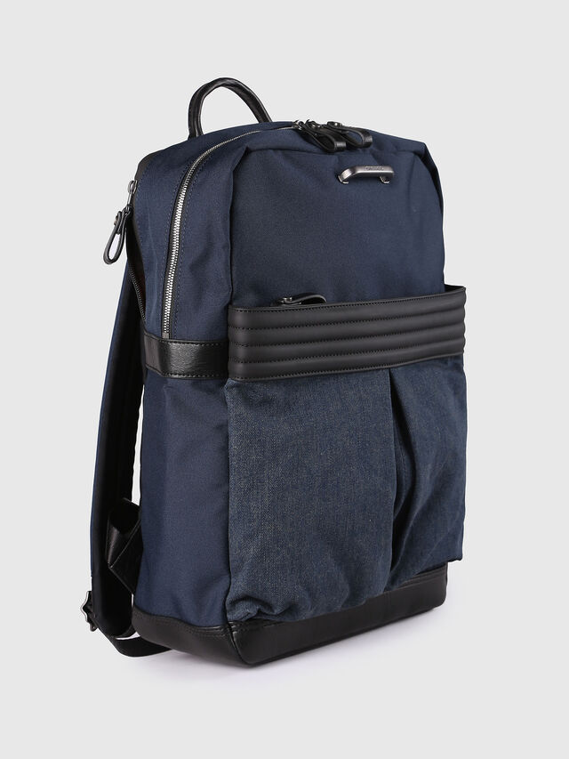 Diesel - M-PROOF BACK, Blue Jeans - Mochilas - Image 3