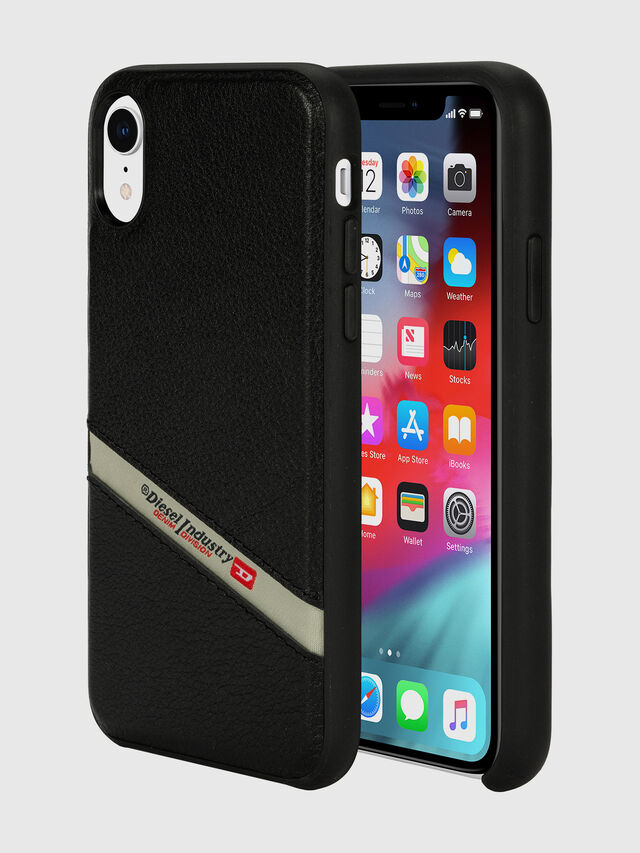 Diesel - DIESEL LEATHER CO-MOLD CASE FOR IPHONE XR, Negro - Fundas - Image 1