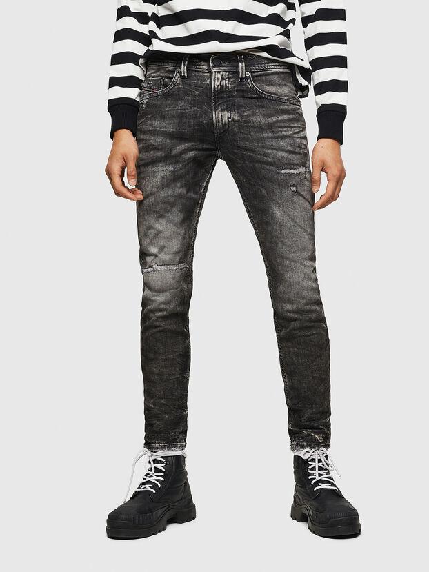 Thommer JoggJeans 0890B, Negro/Gris oscuro - Vaqueros
