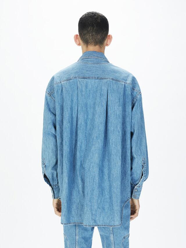 Diesel - SOTS01, Azul Claro - Camisas - Image 4