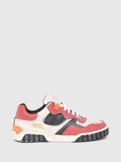Diesel - S-RUA LOW SK, Blanco/Rojo - Sneakers - Image 1