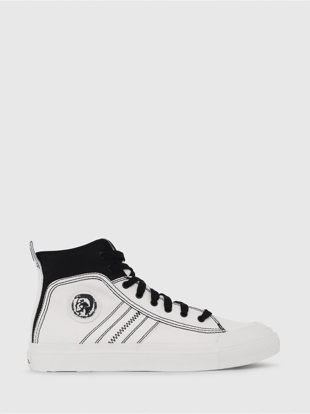 Diesel - S-ASTICO MID LACE, Blanco/Negro - Sneakers - Image 1