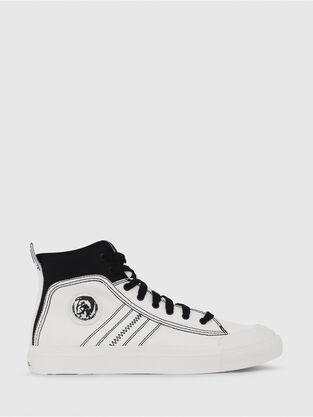 new styles 7a3e4 df089 S-ASTICO MID LACE, Blanco Negro - Sneakers