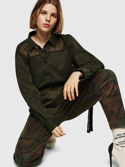 Diesel - P-THENA-A, Verde Camuflaje - Pantalones - Image 3