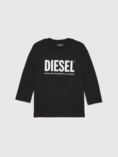 Diesel - TJUSTLOGOB ML-R, Negro - Camisetas y Tops - Image 1