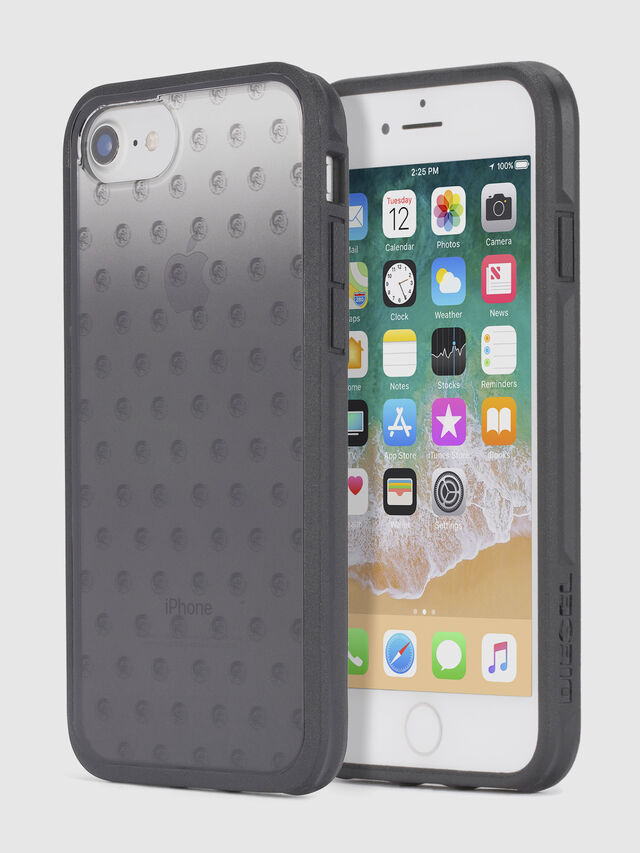 MOHICAN HEAD DOTS BLACK IPHONE 8/7/6s/6 CASE, Negro