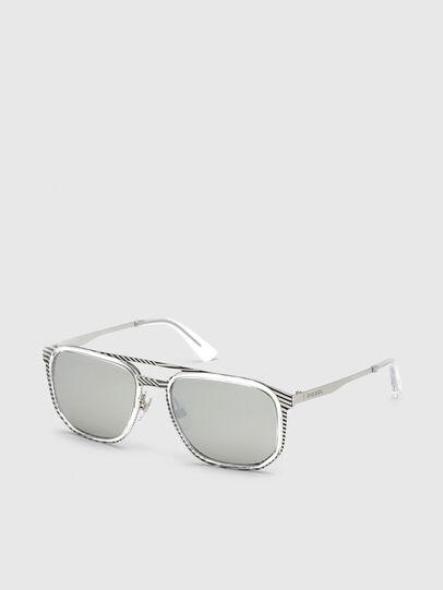 Diesel - DL0294, Blanco/Negro - Gafas de sol - Image 2