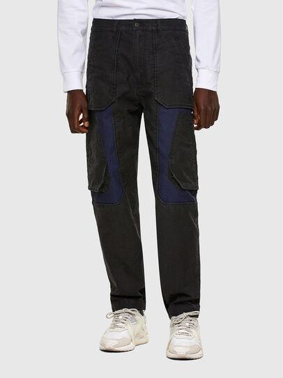 Diesel - D-Eluxerr JoggJeans® 0DDAV, Negro/Gris oscuro - Vaqueros - Image 1