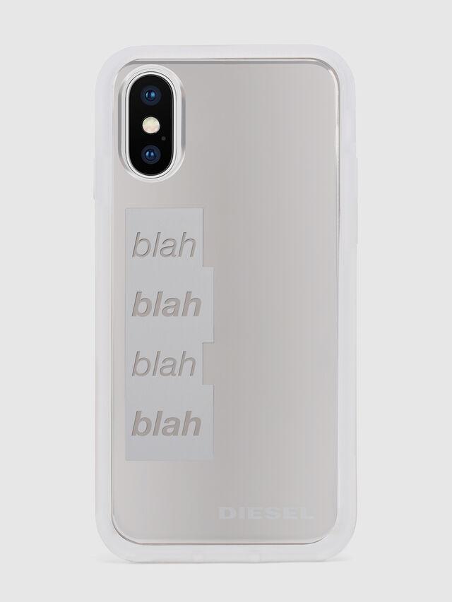 Diesel - BLAH BLAH BLAH IPHONE X CASE, Blanco/Plateado - Fundas - Image 2