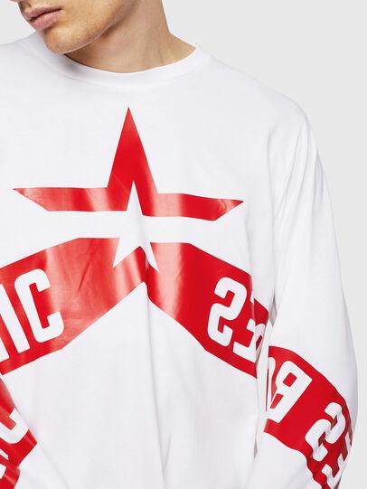 Diesel - T-JUST-LS-STAR, Blanco - Camisetas - Image 3