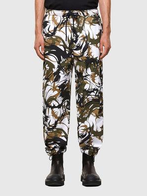 P-TRIBE, Blanco/Verde - Pantalones