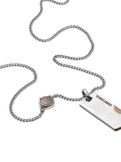 Diesel - NECKLACE DX1078, Plata - Collares - Image 1