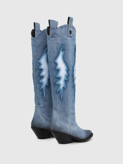 Diesel - D-GIUDECCA MHB, Blue Jeans - Botas - Image 3