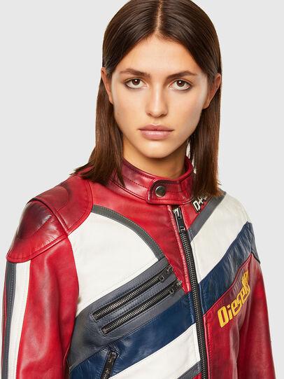 Diesel - L-POLLY, Rojo - Chaquetas de piel - Image 3