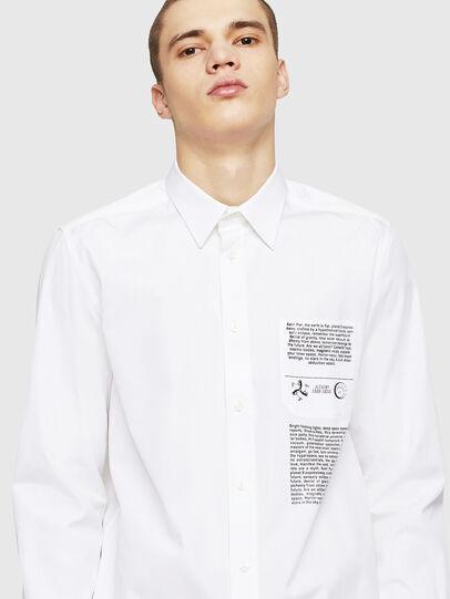 Diesel - S-VEN-PRINT, Blanco - Camisas - Image 4