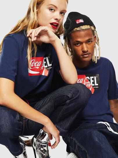 Diesel - CC-T-JUST-COLA, Azul Oscuro - Camisetas - Image 6